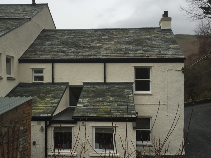 Slate roofing on a traditional Lake District property
