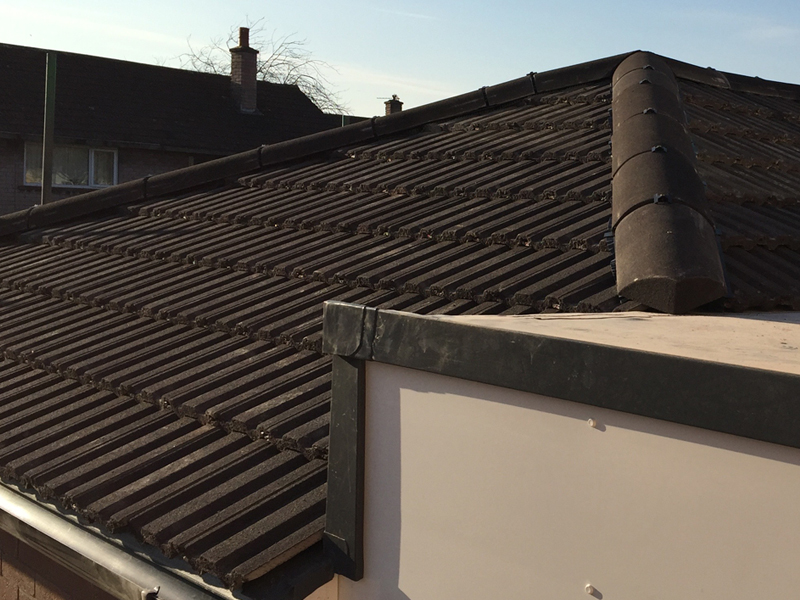 Newly tiled roofing